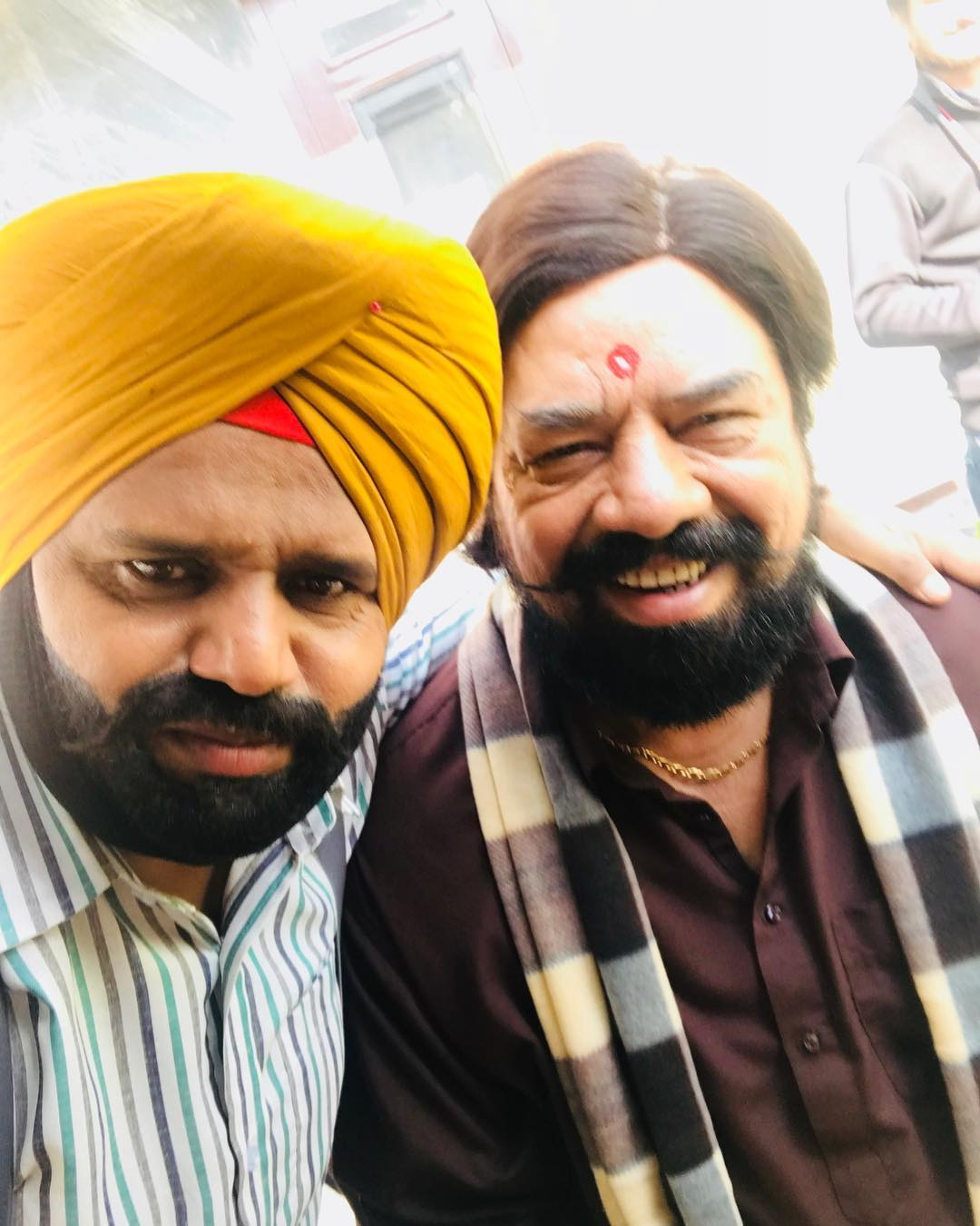 Karamjit Anmol On The Set Of Carry On Jatta 2 With BN Sharma