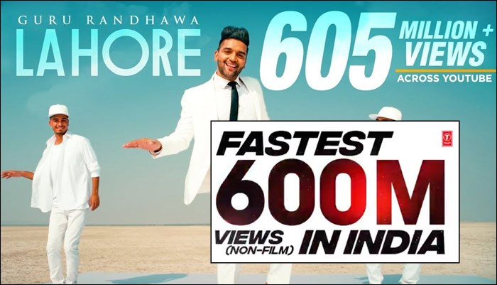 Guru Randhawa's 'Lahore' Song Video Is Fastest To Reach 600 Million Views In India