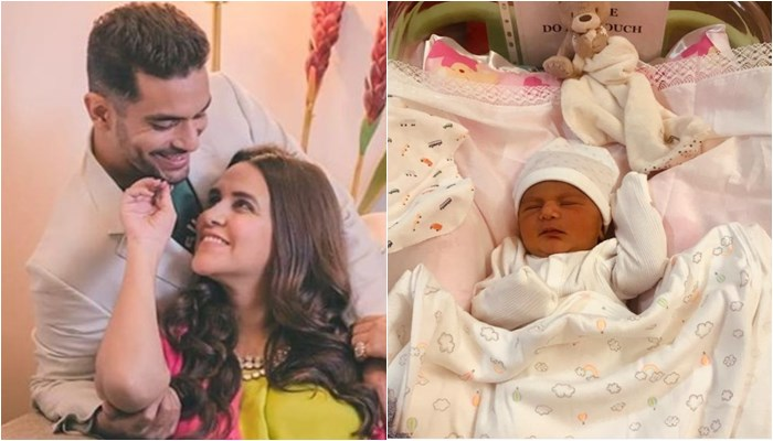 Here's The FIRST Photo Of Neha Dhupia & Angad Bedi's Daughter Mehr