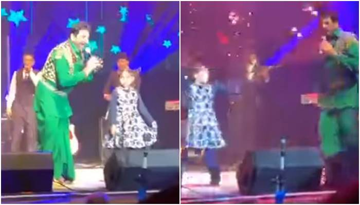 Gurdas maan share stage with little girl doing bhangra viral video