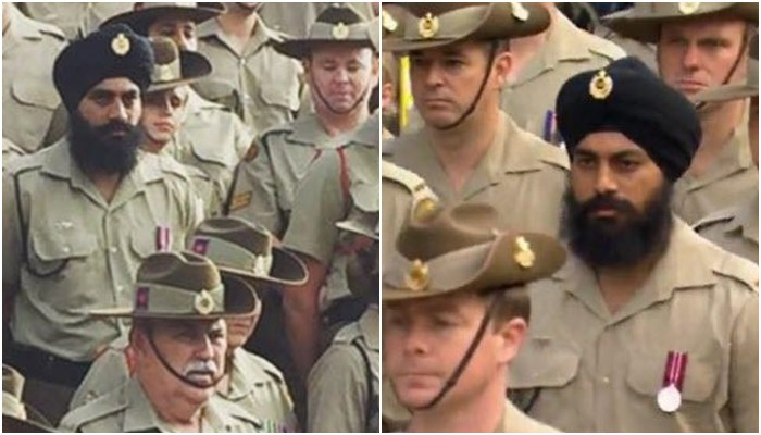 Jasjit Singh Becomes First Turbaned Soldier To Represent Australian Army On Anzac Day (PIC Courtesy: SBS)