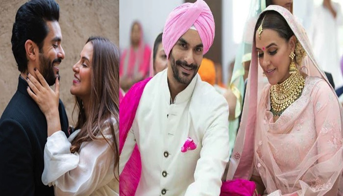 Neha Dhupia Shared a video on first wedding anniversary with Angad Bedi