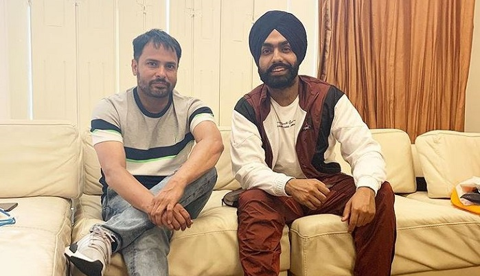 Amrinder Gill and Ammy Virk meet after tow and half year ago