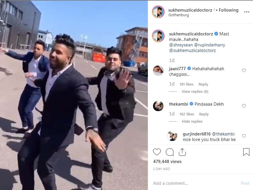 Sukhe Muzical Doctorz made a video with Friends on Laung Laachi song