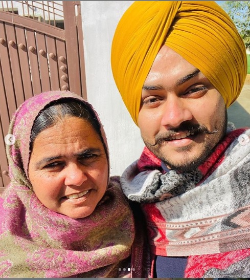 Himmat Sandhu With Mother