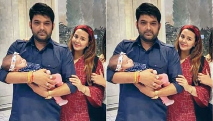 Kapil Sharma With Daughter Anayra Sharma And Wife Ginni Chatrath