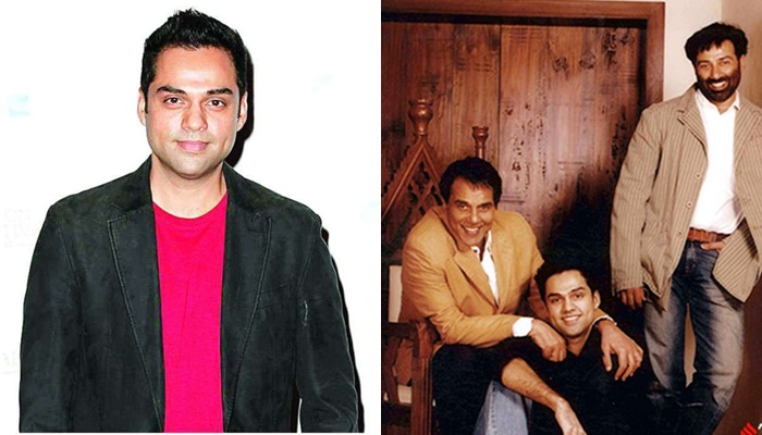 Abhay deol with sunny and dharmendra