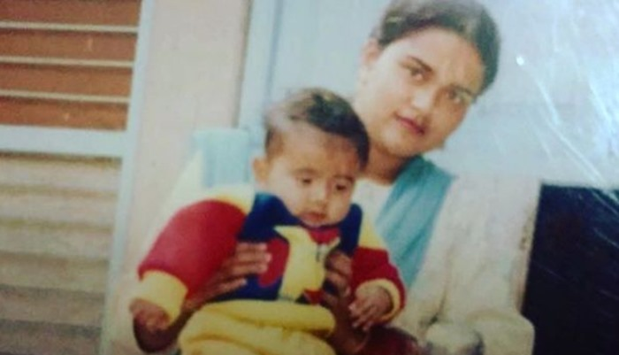 His Late Mother, Amrit Maan