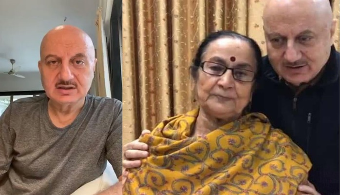 Anupam Kher Shared Emotional Video About His Mother corona Positive