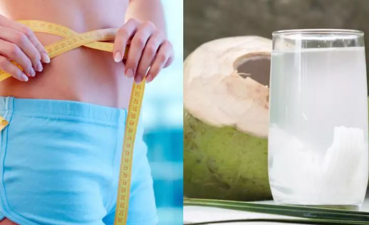 fat reduce with coconut water