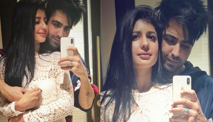 inside pic of harrdy sandhu with wife