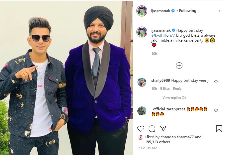 jass manak wished and post birthday note for kv dhillon