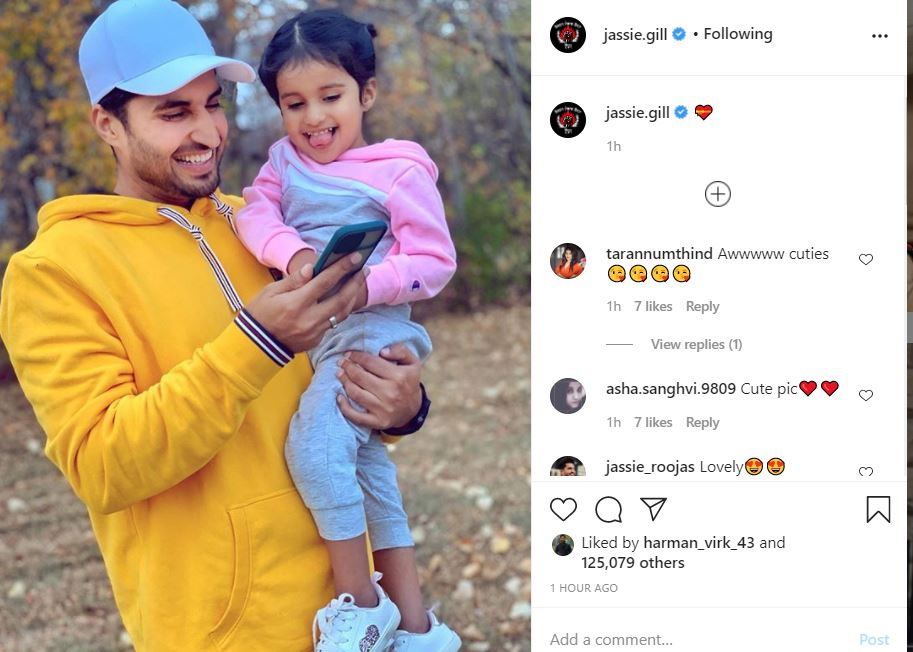 jassie gill shared his daughter new pic