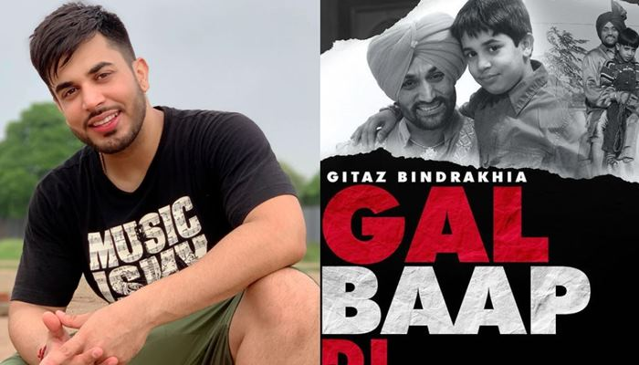 Gitaz Bindrakhia Shared His New Song 'Gal Baap Di' Poster With Fans