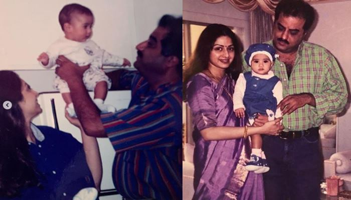 Janhvi Kapoor Shared Unseen Picture On her Fathter's Birthday