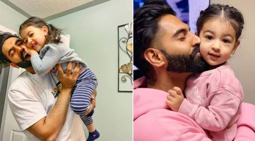 inside pic of parmish verma with niece amber