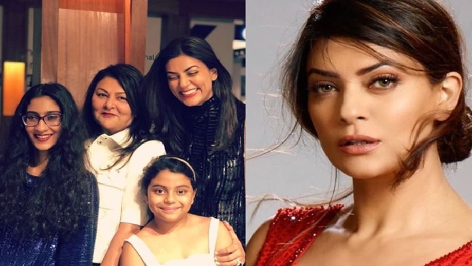 inside pic of sushmita sen with kids and mother
