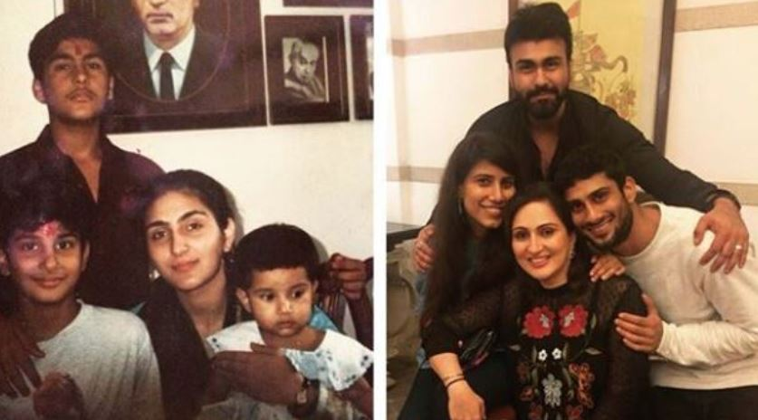inside pic of partik babbar with family