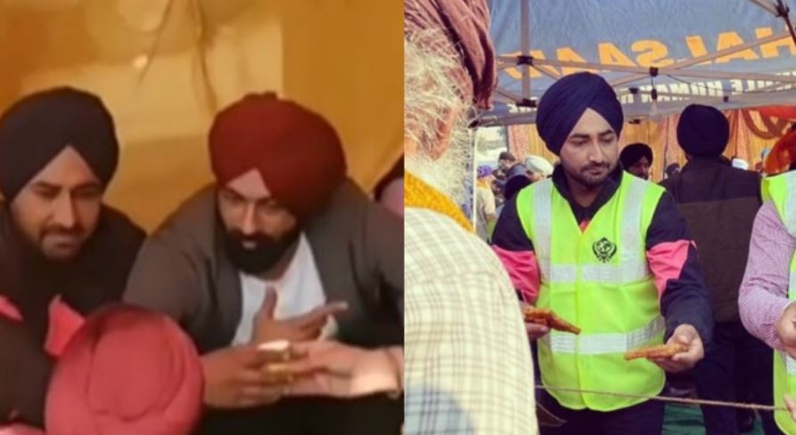 inside pic of ranjit bawa serving his serves in farmer protest
