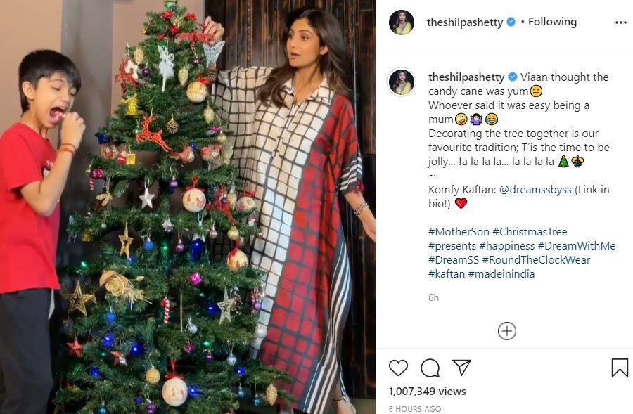 inside pic of shilpa shetty and viaan