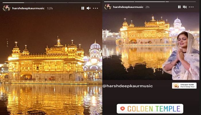 inside pics of harshdeep kaur at golden temple