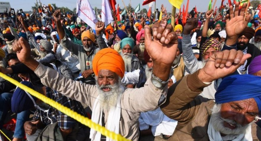 inside picture of farmer protest