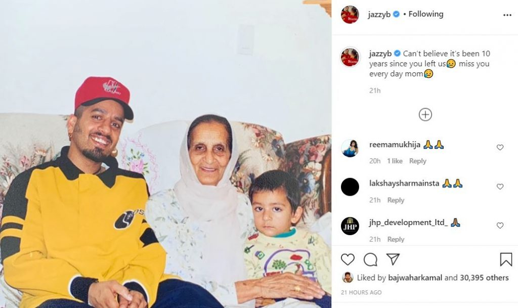 jazzy b emotional post for his mother