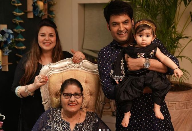inside pic of kapil sharma with family