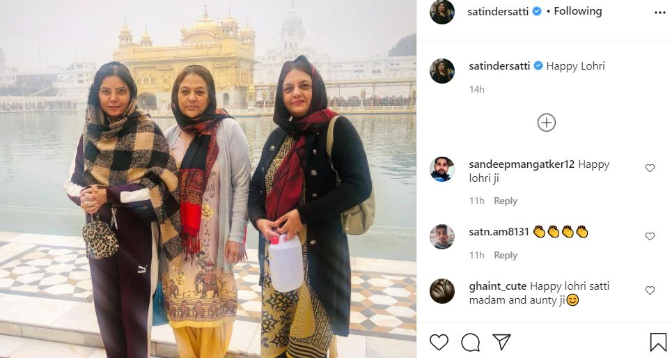 inside pic of satinder satti with family