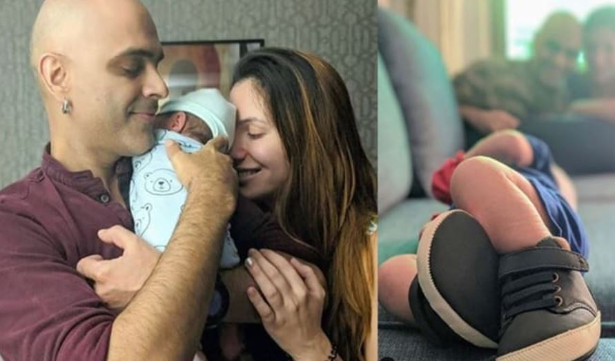 raghu ram and natalie with son