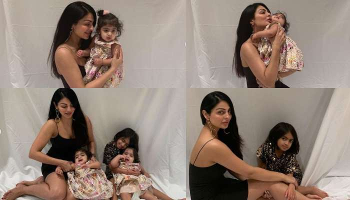 Neeru Pictures with kids