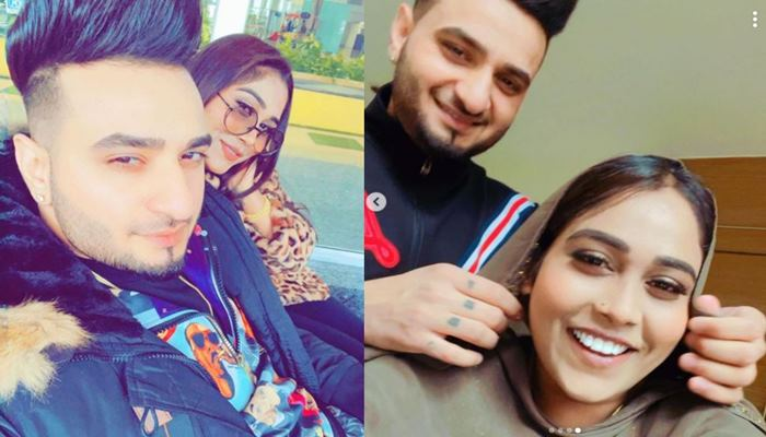 Afsana Khan Shared Her new Love pics with Singer Saajz