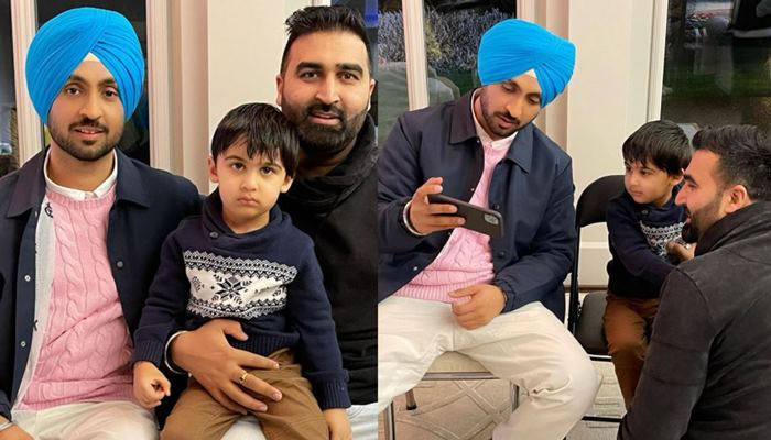 The audience liked these pictures of Diljit Dosanjh and Sukh Brar's son