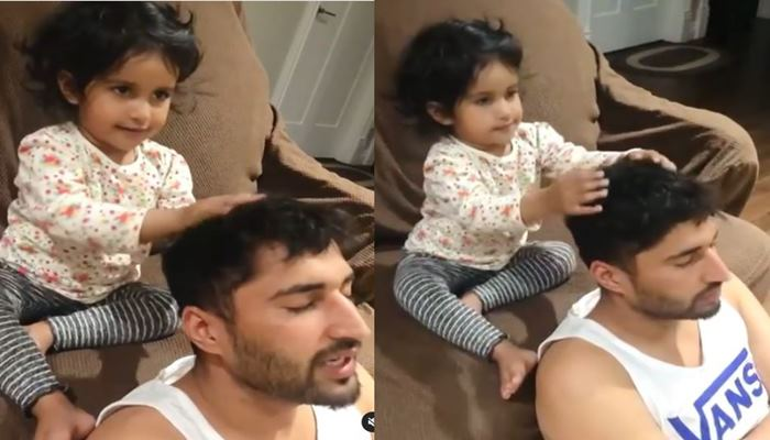jassie gill with his daughter rojas kaur gill