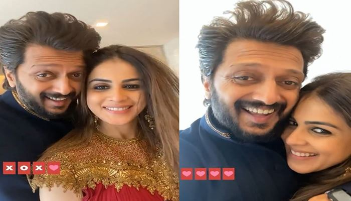 Riteish Deshmukh Made Cute Video With wife Genelia on valentines day