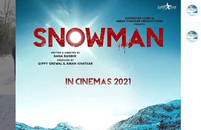 image of snowman poster