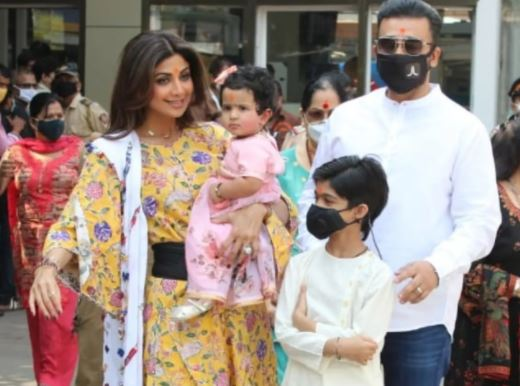 inside image of shilpa shetty's daughter's first birthday