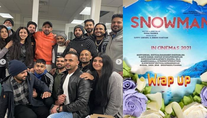 inside image of snowman wrap up party