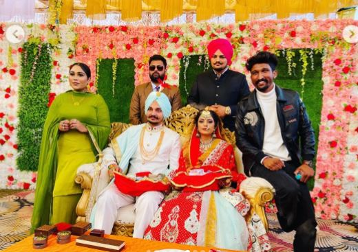 inside pic of wedding pic of sidhu moose wala's brother