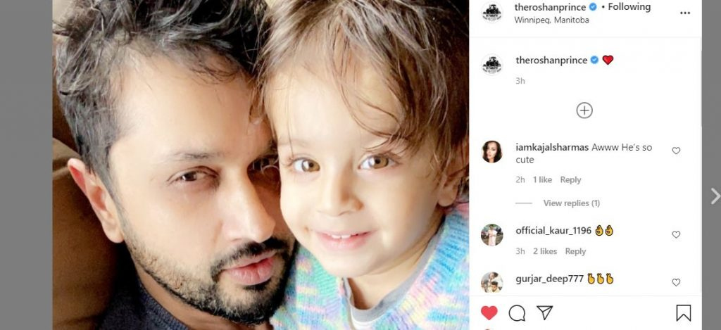 inside roshan prince with son