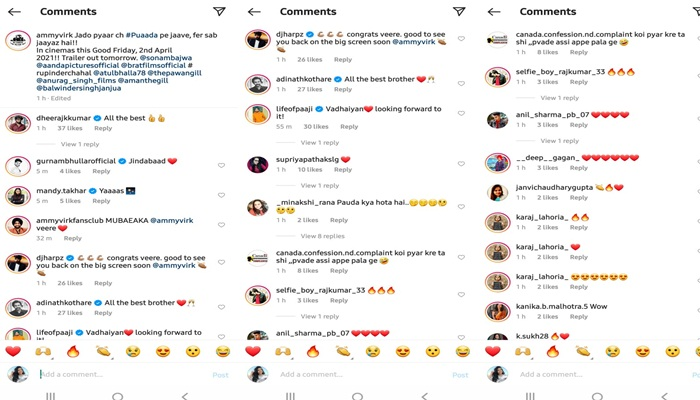 feature image of ammy virk comments