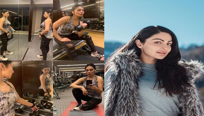 See this style of Neeru Bajwa, doing a lot of exercise in the gym