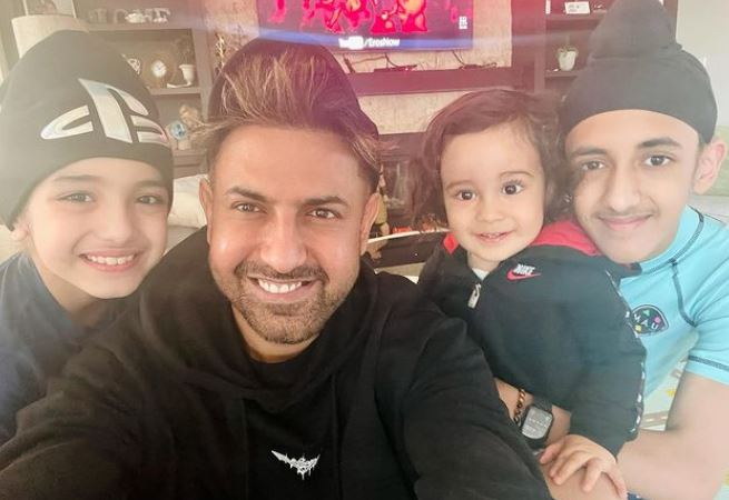 gippy grewal with sons