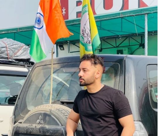 inside image of sippy gill with farmer flag