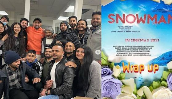 inside image of snowman wrap party pic