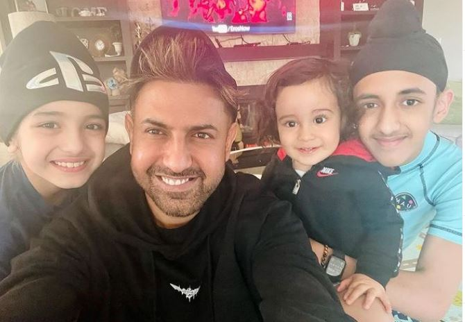 image of gippy grewal with family