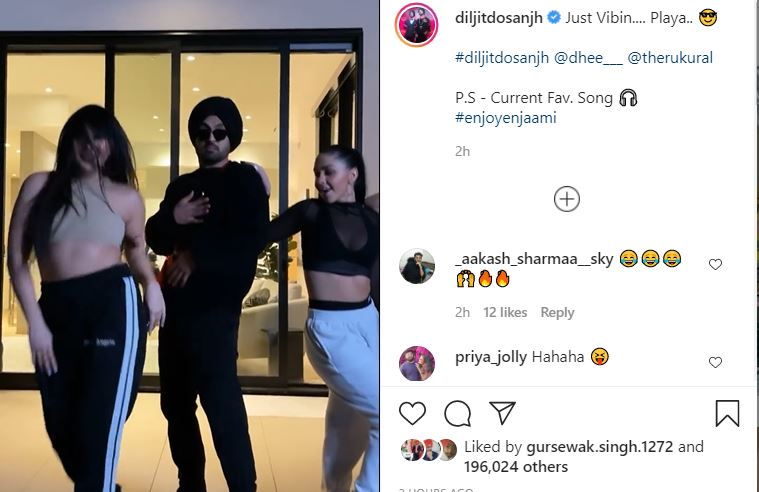 inside image of diljit dosanjh's new video