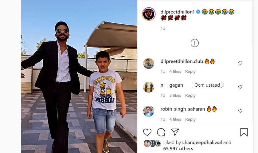 inside image of dilpreet dhillon with his nephew