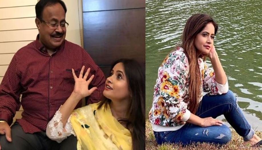 miss pooja with her late father