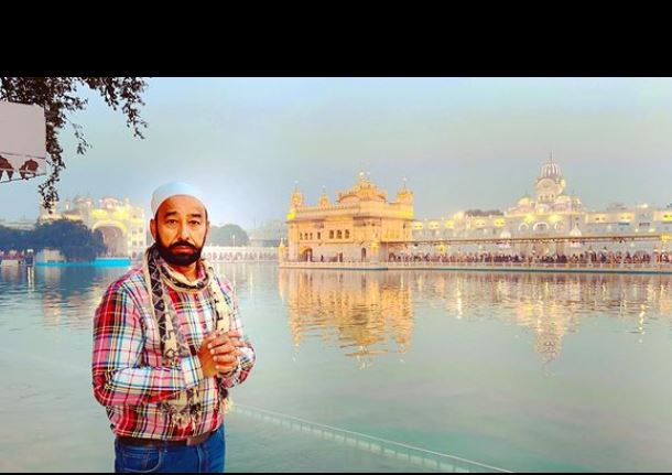 actor darshan aulkha shared his pic from golden temple
